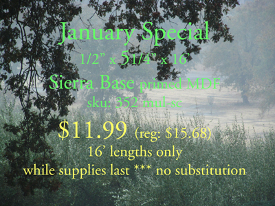 January moulding special
