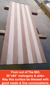 Alder & Mahogany surface from The Mill at American Lumber