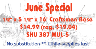 Moulding special this month
