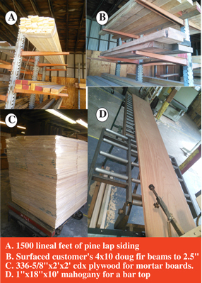 Quality Lumber Services, delivery fleet, mill shop, door shop